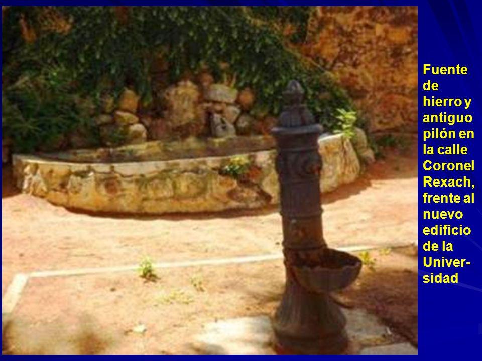 Fuente situada en la confluencia de las calles de Cañuelos y Coronel Rexach en la pared del Monasterio de la Humilde Encarnación. Fuente seca, situada