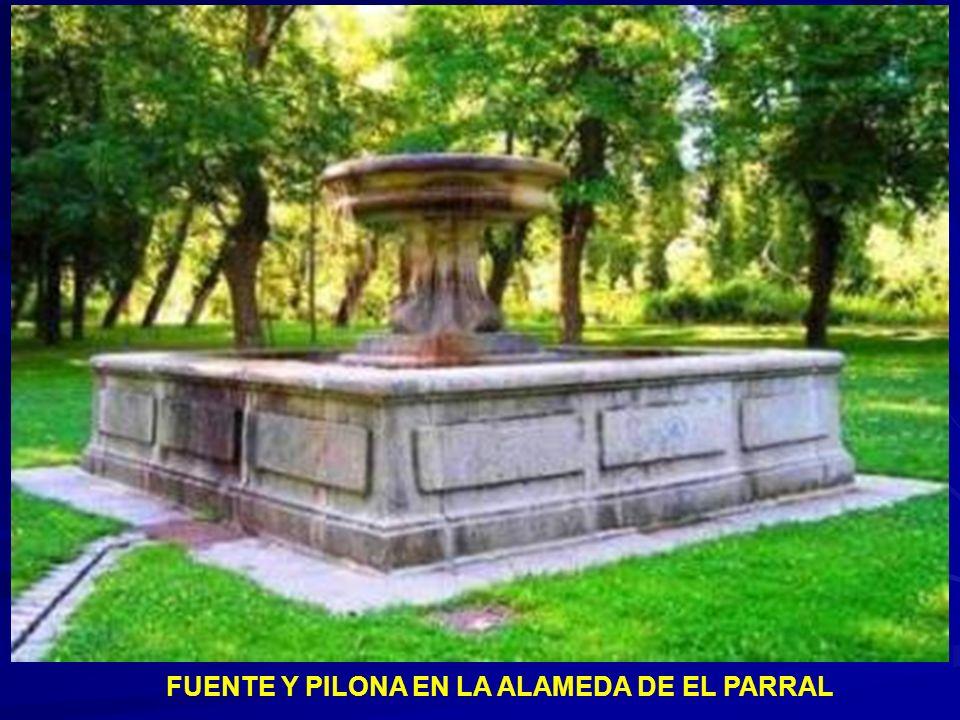 Pilón y caño situados en el parque del Cemen- terio