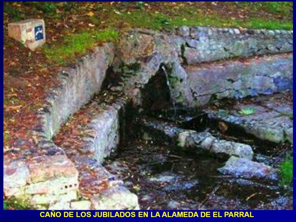 Cuencos situados al final del caz procedente de la pileta de recogida de aguas en la plaza de Santa Eulalia
