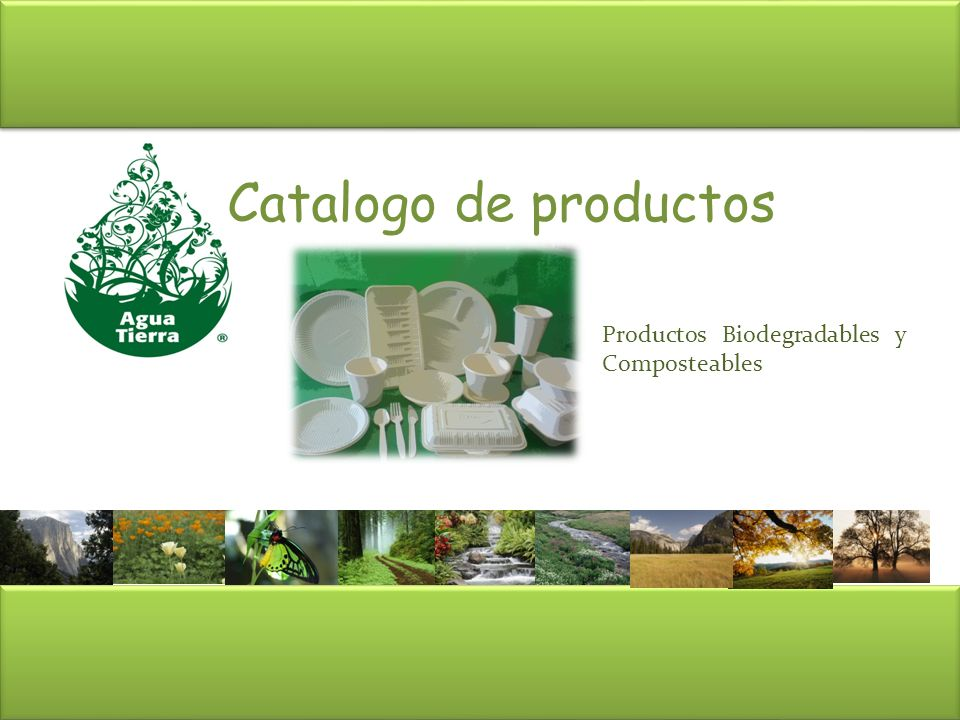 Catalogo de productos Productos Biodegradables y Composteables