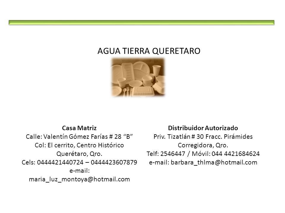 Casa Matriz Calle: Valentín Gómez Farías # 28 B Col: El cerrito, Centro Histórico Querétaro, Qro. Cels: 0444421440724 – 0444423607879 e-mail: maria_lu