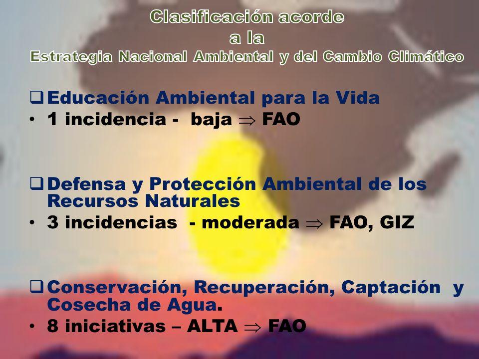 Mitigación, Adaptación y Gestión de Riesgo ante el Cambio Climático.