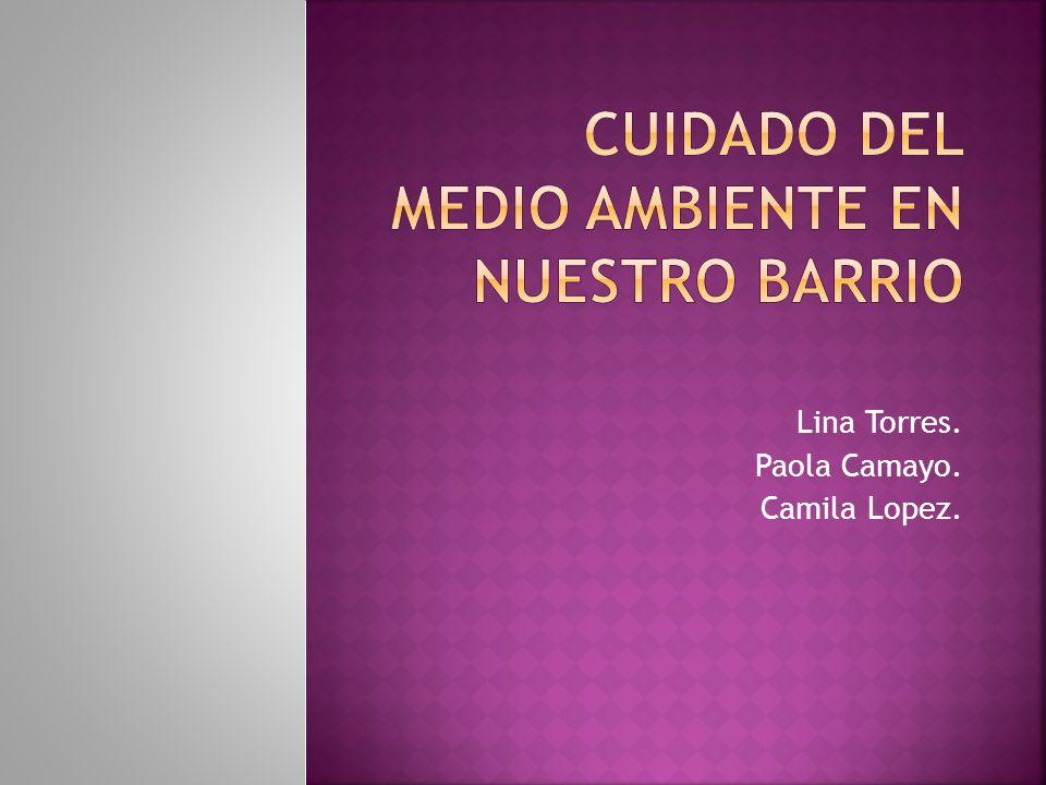 Lina Torres. Paola Camayo. Camila Lopez.