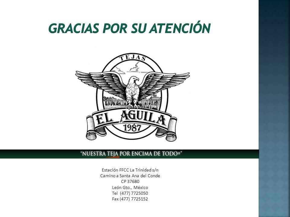 Estación FFCC La Trinidad s/n Camino a Santa Ana del Conde CP 37680 León Gto., México Tel (477) 7725050 Fax (477) 7725152