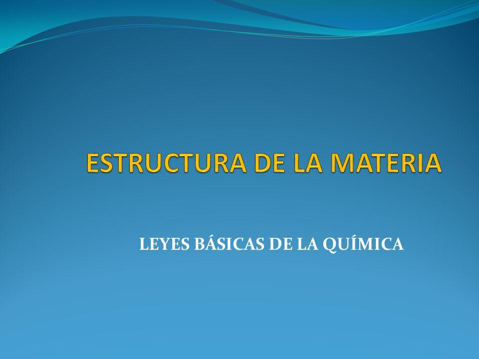 LEYES BÁSICAS DE LA QUÍMICA