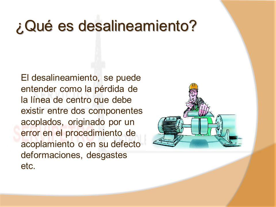 ¿Qué es desalineamiento? El desalineamiento, se puede entender como la pérdida de la línea de centro que debe existir entre dos componentes acoplados,