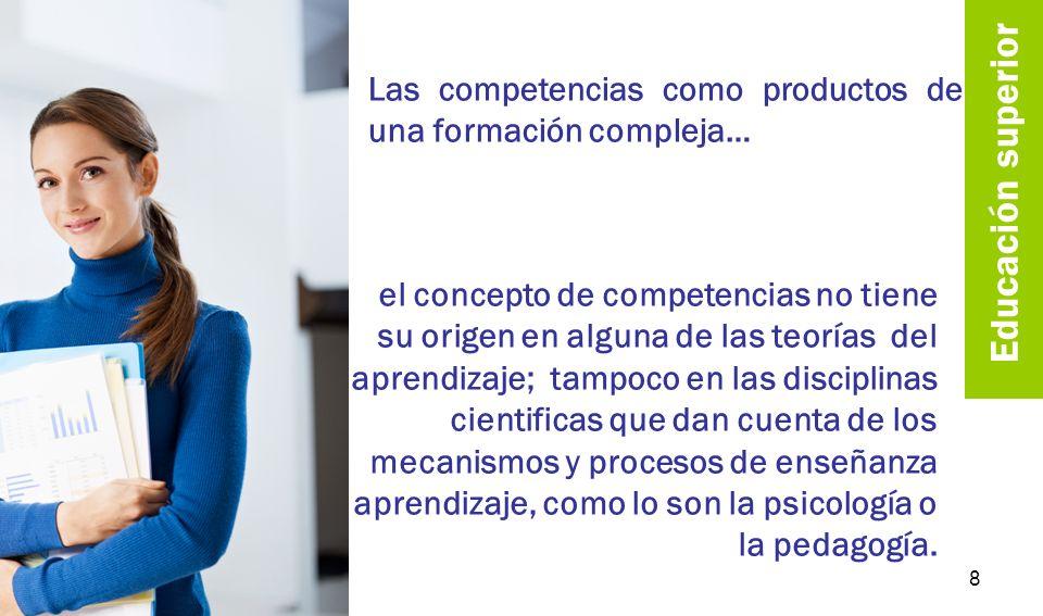 competencias en años recientes, se han venido generando propuestas que permiten entender qué es competencia, recuperando elementos como el papel de la cultura y de lo social como factores importantes para el aprendizaje 9