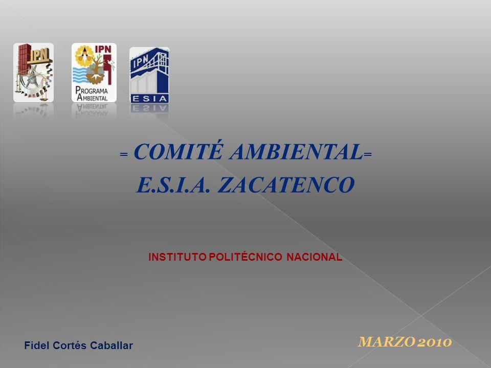 = COMITÉ AMBIENTAL = E.S.I.A.