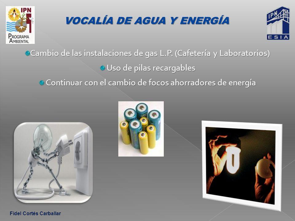 Cambio de las instalaciones de gas L.P.