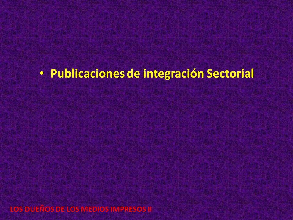 Publicaciones de integración Sectorial