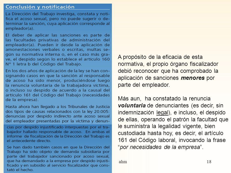 Ironía mayor, totalmente previsible: Ya en marzo de 2007, según Informe oficial de la propia Dirección del Trabajo, se reconocía que parte importante