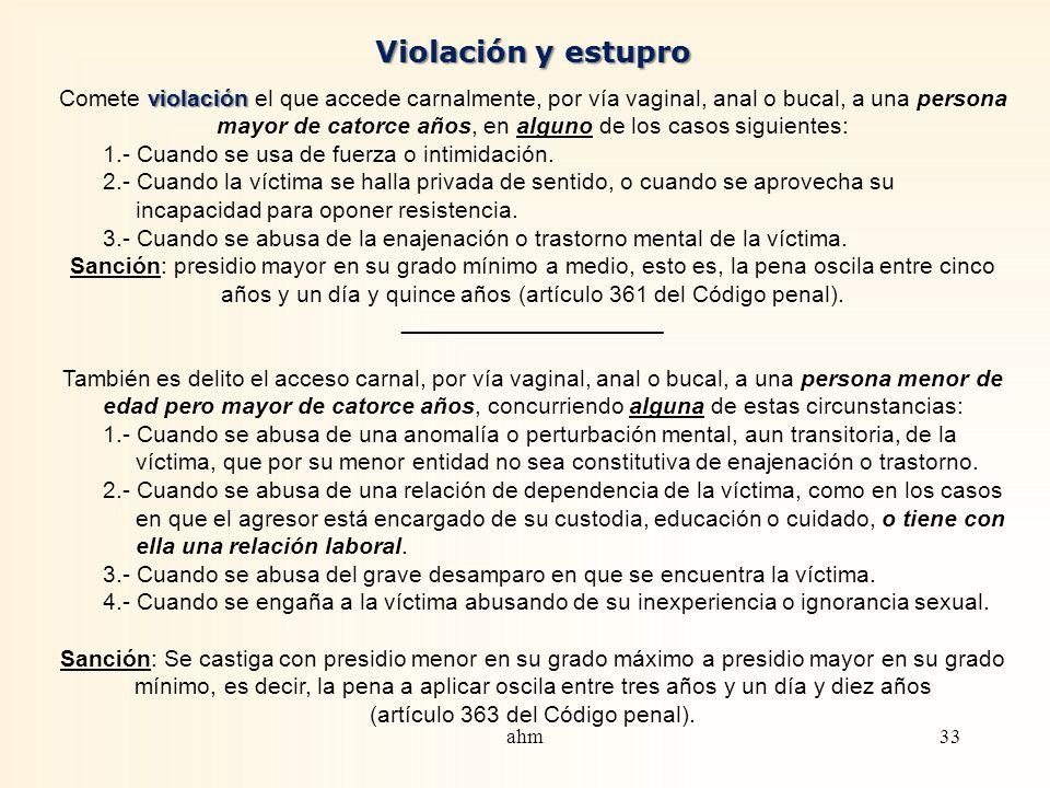 Veamos algunos delitos consignados en el Código penal, a propósito no ya del acoso, sino de otras manifestaciones contra la integridad sexual que se h