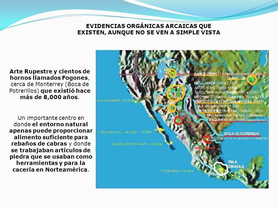 EVIDENCIAS ORGÁNICAS ARCAICAS QUE EXISTEN, AUNQUE NO SE VEN A SIMPLE VISTA Arte Rupestre y cientos de hornos llamados Fogones, cerca de Monterrey (Boc