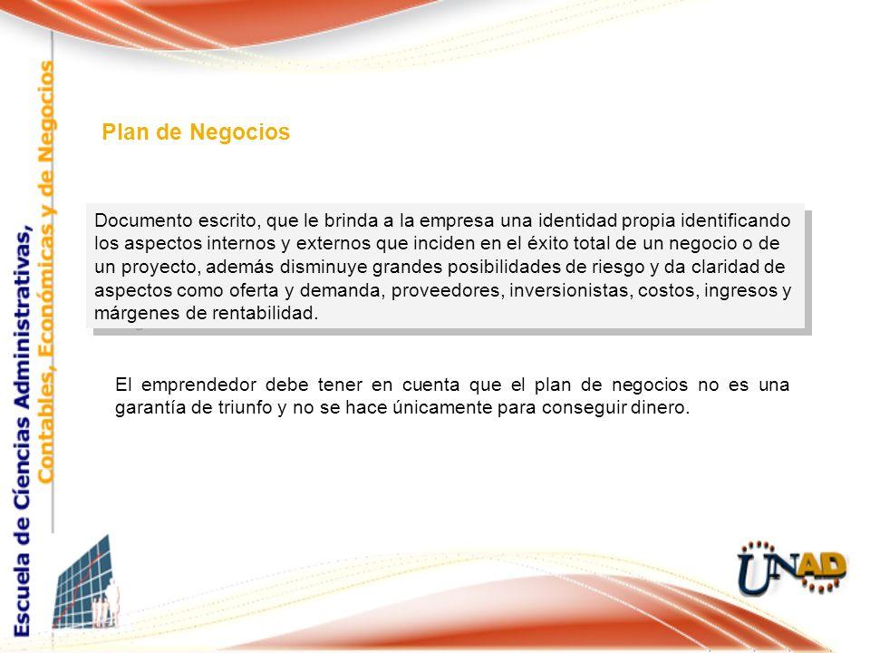 Documento escrito, que le brinda a la empresa una identidad propia identificando los aspectos internos y externos que inciden en el éxito total de un