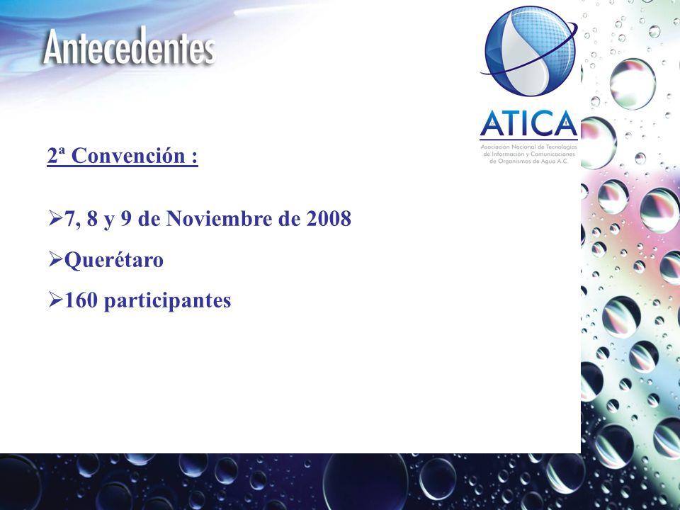 2ª Convención : 7, 8 y 9 de Noviembre de 2008 Querétaro 160 participantes