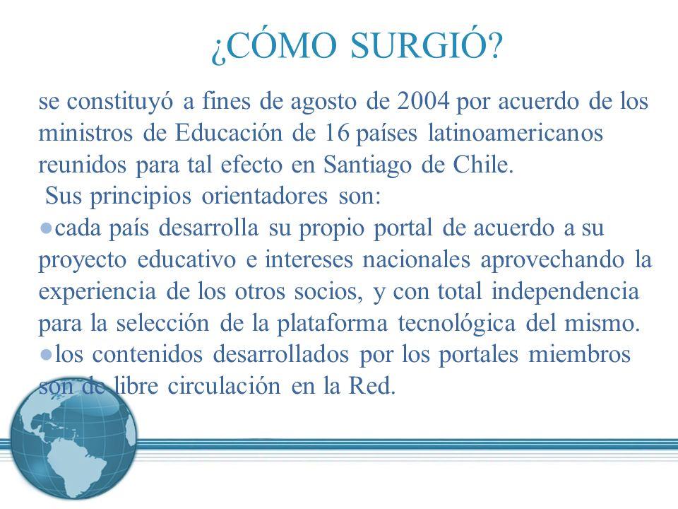 se constituyó a fines de agosto de 2004 por acuerdo de los ministros de Educación de 16 países latinoamericanos reunidos para tal efecto en Santiago de Chile.