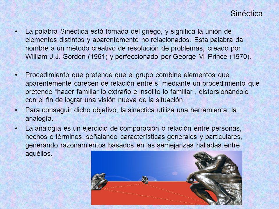Sinéctica La palabra Sinéctica está tomada del griego, y significa la unión de elementos distintos y aparentemente no relacionados.