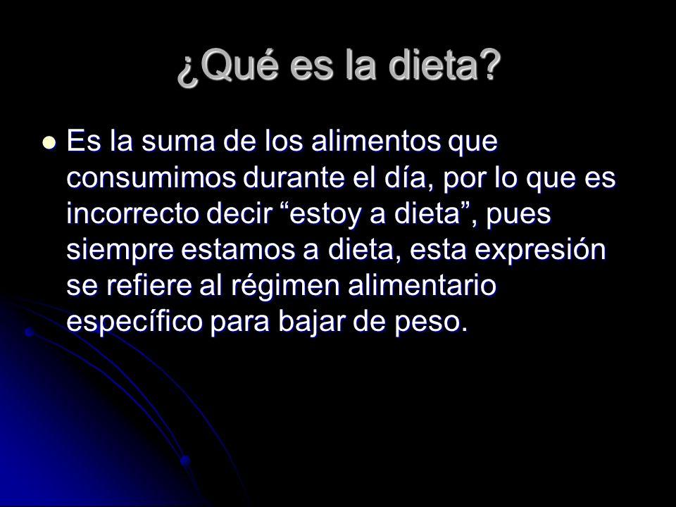 ¿Qué es la dieta.