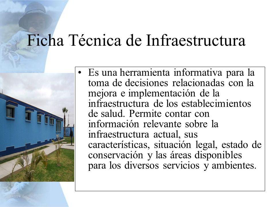 Es una herramienta informativa para la toma de decisiones relacionadas con la mejora e implementación de la infraestructura de los establecimientos de