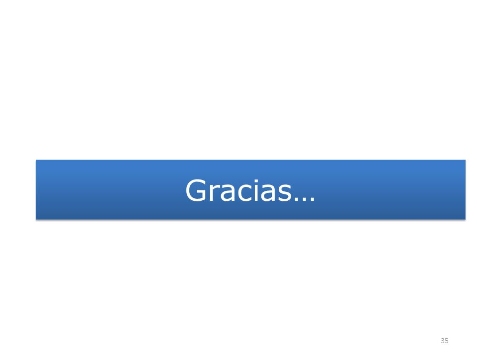 Gracias… 35