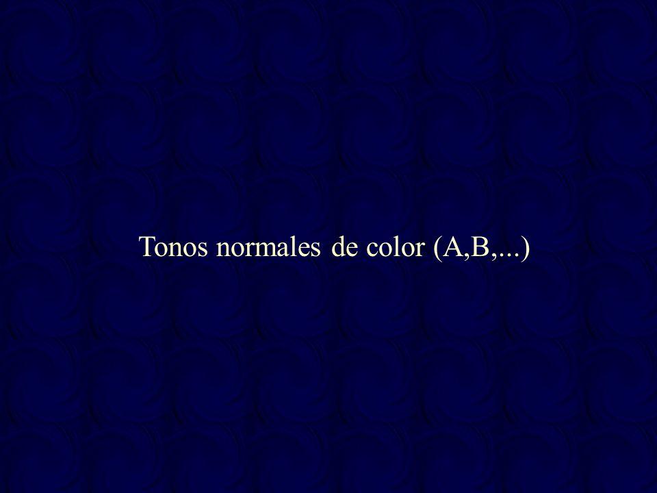 Tonos normales de color (A,B,...)