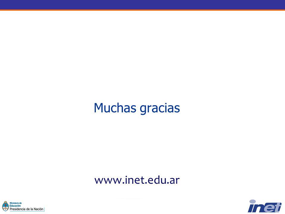 Muchas gracias www.inet.edu.ar