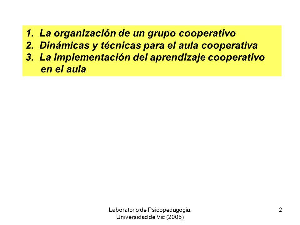 ENSEÑAR JUNTOS A ALUMNOS DIFERENTES El aprendizaje cooperativo en el aula Equipo de trabajo dirigido por Pere Pujolàs LABORATORIO DE PSICOPEDAGOGÍA FA