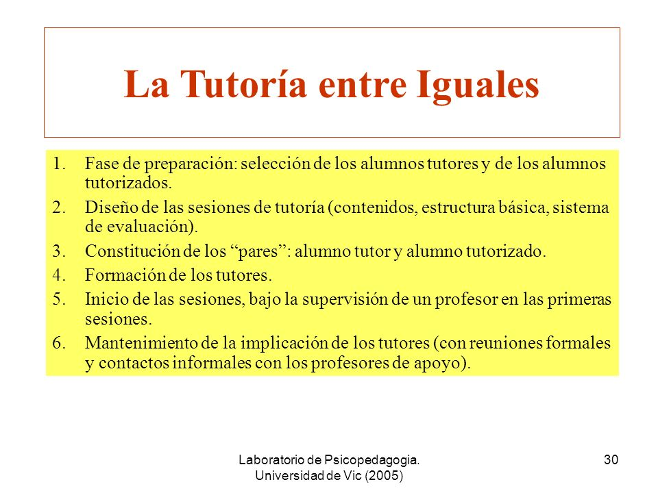 Laboratorio de Psicopedagogia. Universidad de Vic (2005) 29 Equipo de Expertos A GRÁFICOS Equipo de Expertos B TABLAS Equipo de Expertos C DIBUJOS Equ