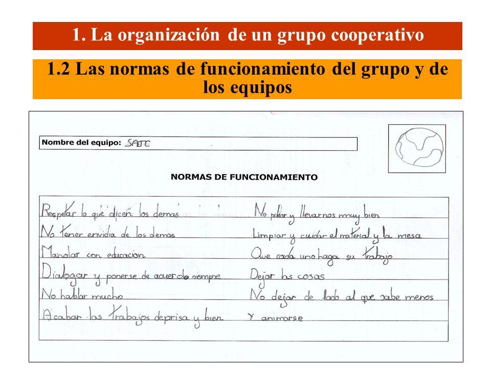 Laboratorio de Psicopedagogia. Universidad de Vic (2005) 4 1.2 Las normas de funcionamiento del grupo y de los equipos 1. La organización de un grupo