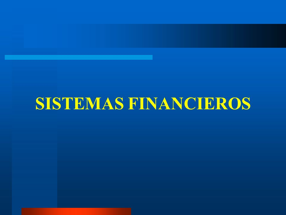 SISTEMAS FINANCIEROS