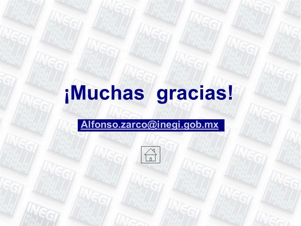 ¡Muchas gracias! Alfonso.zarco@inegi.gob.mx