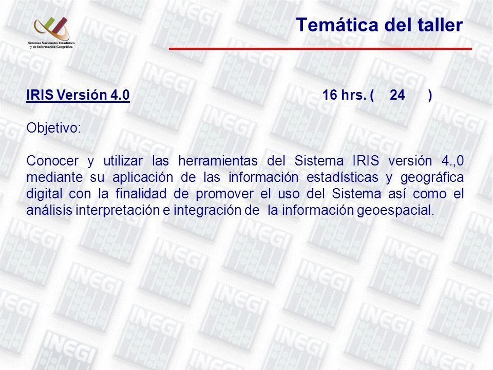 IRIS Versión 4.016 hrs.