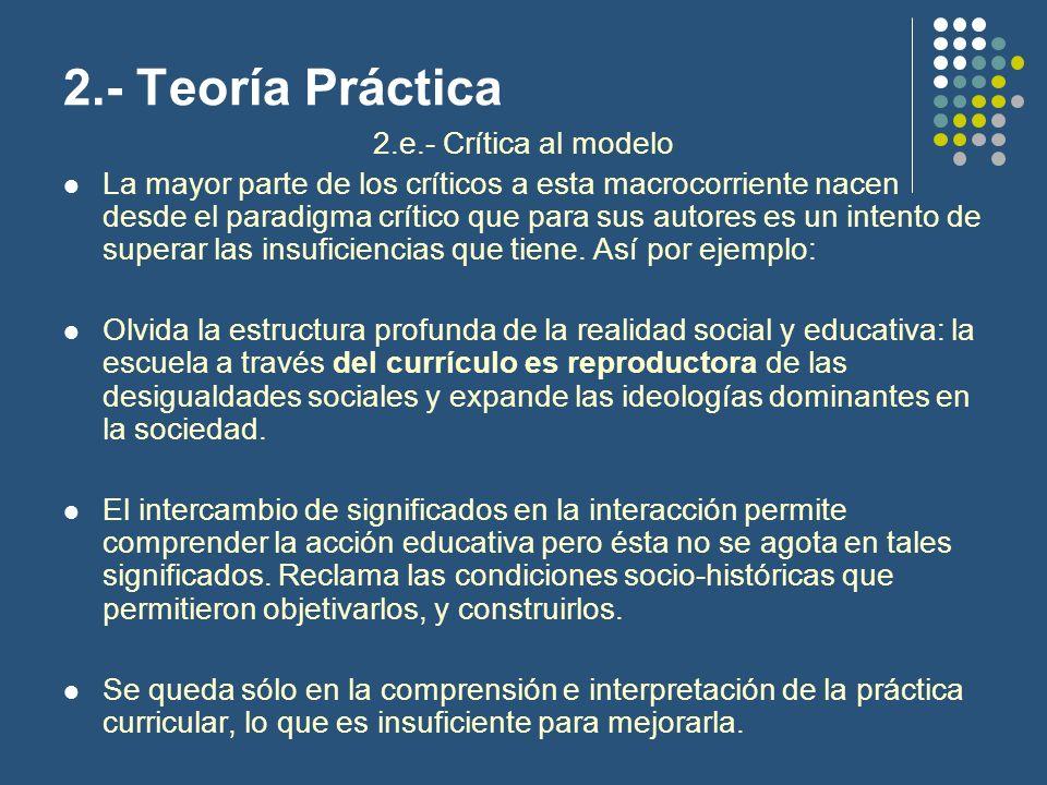 Tema : Teorías del currículo Teoría Crítica