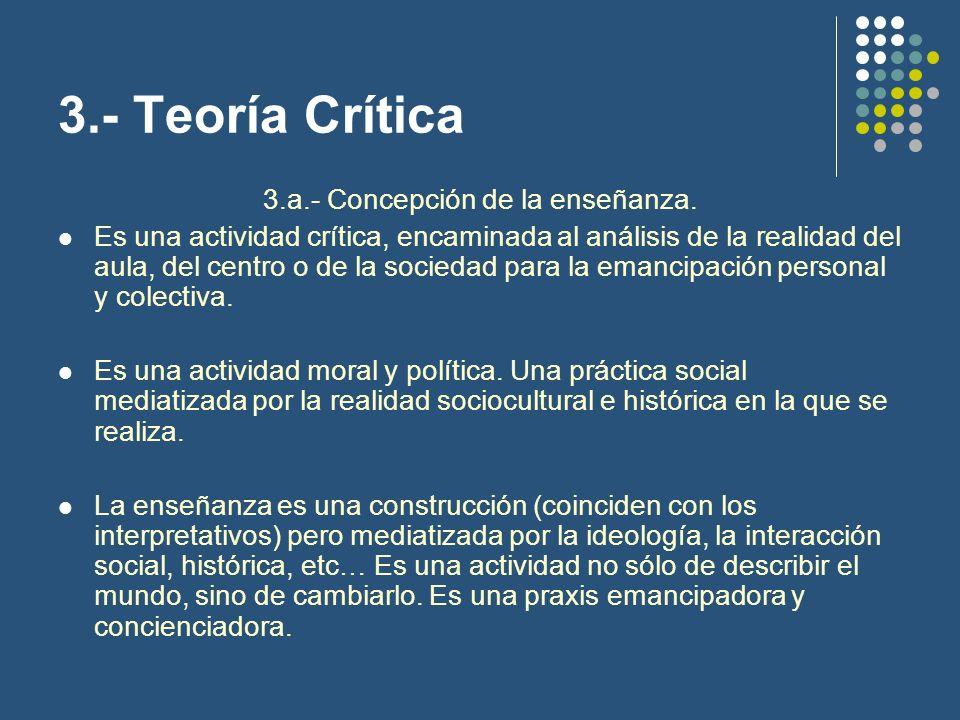 3.- Teoría Crítica 3.b.- Fundamentación para la toma de decisiones curriculares.