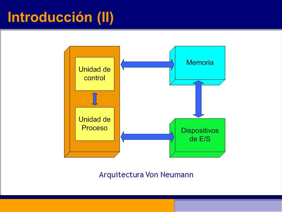 Introducción (II) Arquitectura Von Neumann