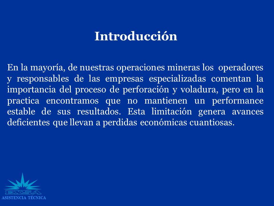 En la mayoría, de nuestras operaciones mineras los operadores y responsables de las empresas especializadas comentan la importancia del proceso de per