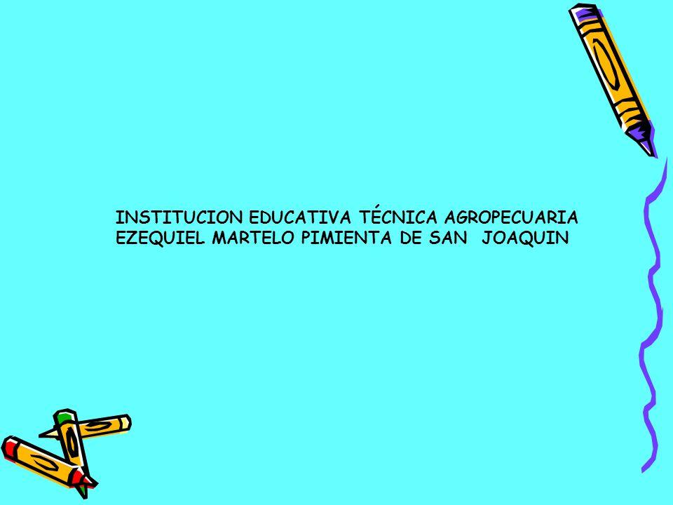 INSTITUCION EDUCATIVA TÉCNICA AGROPECUARIA EZEQUIEL MARTELO PIMIENTA DE SAN JOAQUIN