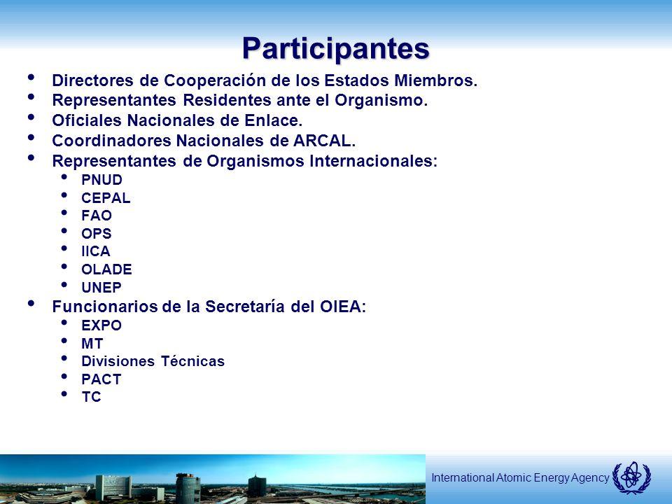 International Atomic Energy AgencyParticipantes Directores de Cooperación de los Estados Miembros.