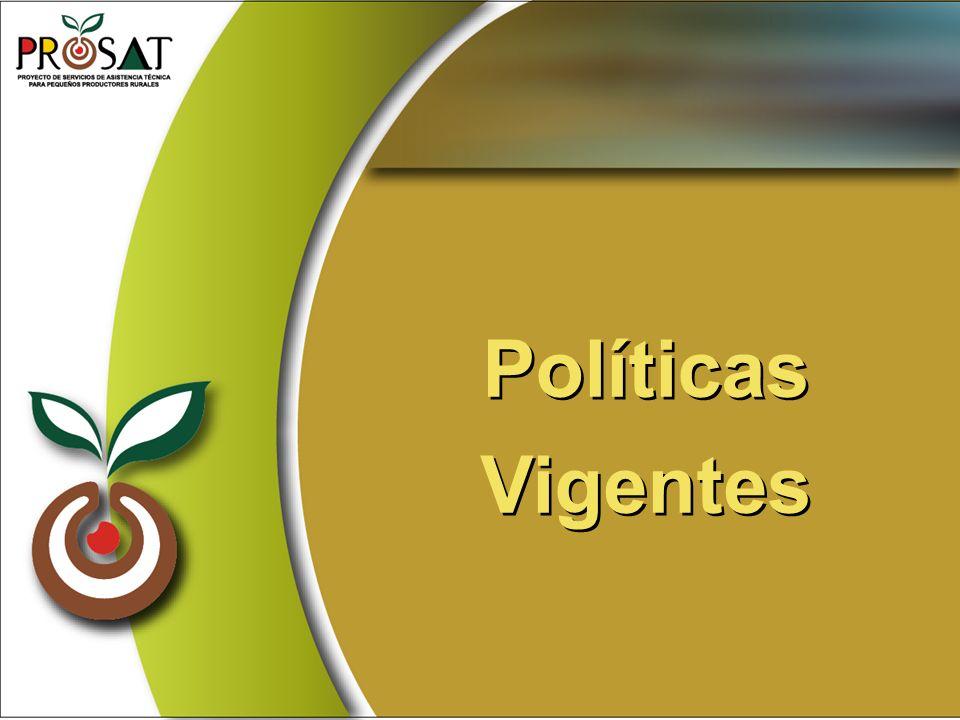 Políticas Vigentes Políticas Vigentes
