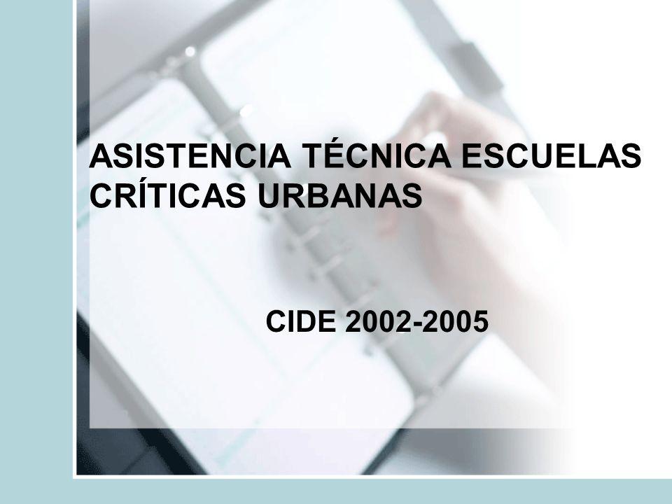 ASISTENCIA TÉCNICA ESCUELAS CRÍTICAS URBANAS CIDE 2002-2005