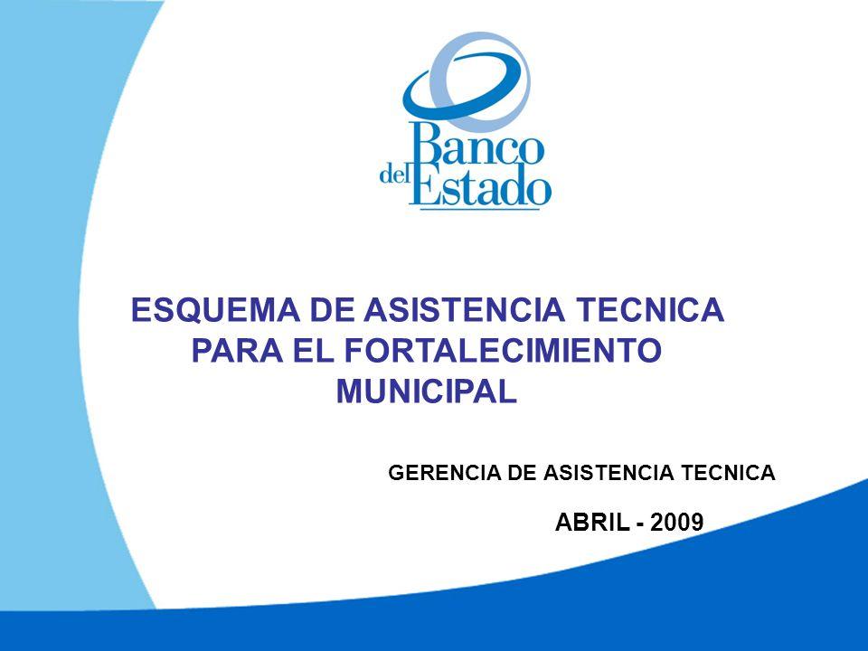 ABRIL - 2009 ESQUEMA DE ASISTENCIA TECNICA PARA EL FORTALECIMIENTO MUNICIPAL GERENCIA DE ASISTENCIA TECNICA