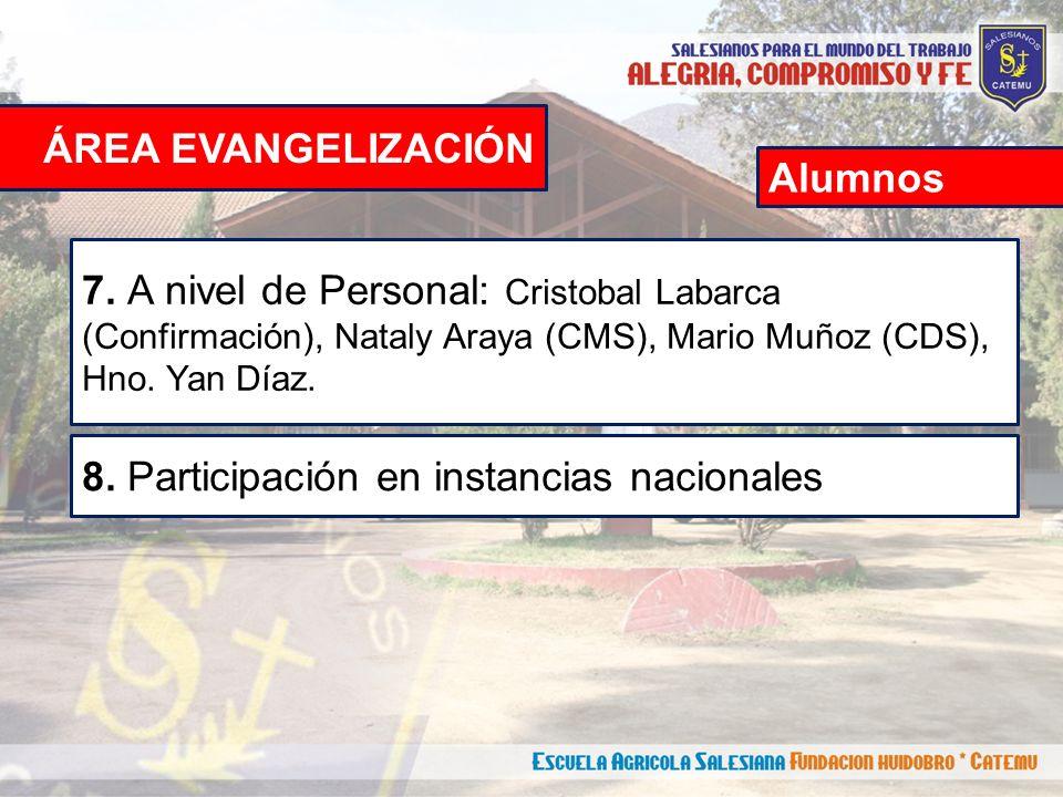 ÁREA EVANGELIZACIÓN 7.