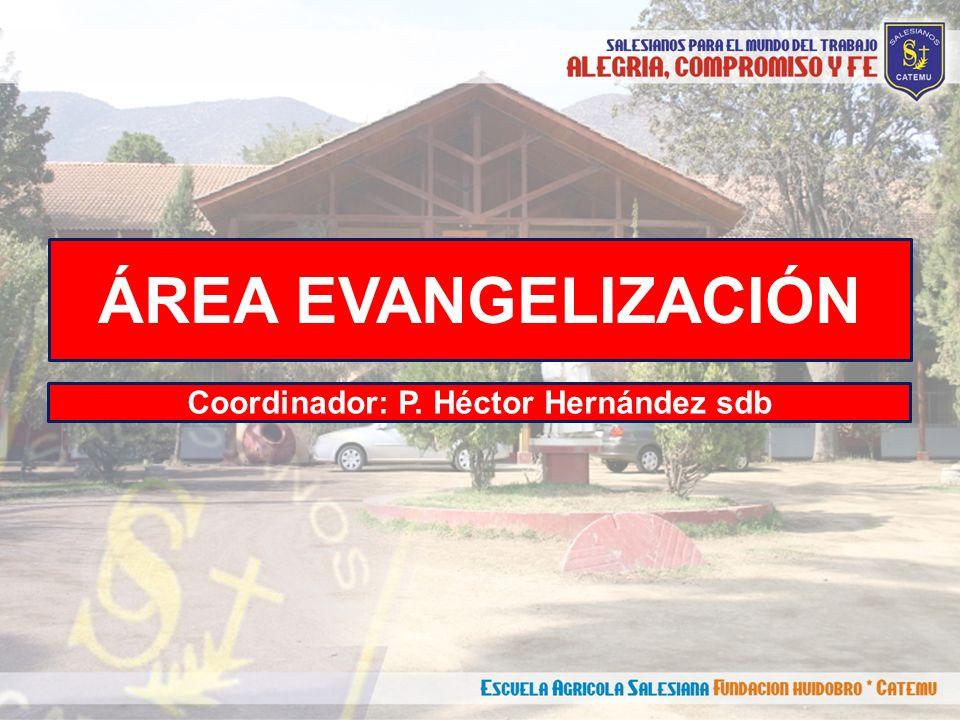 ÁREA EVANGELIZACIÓN Coordinador: P. Héctor Hernández sdb