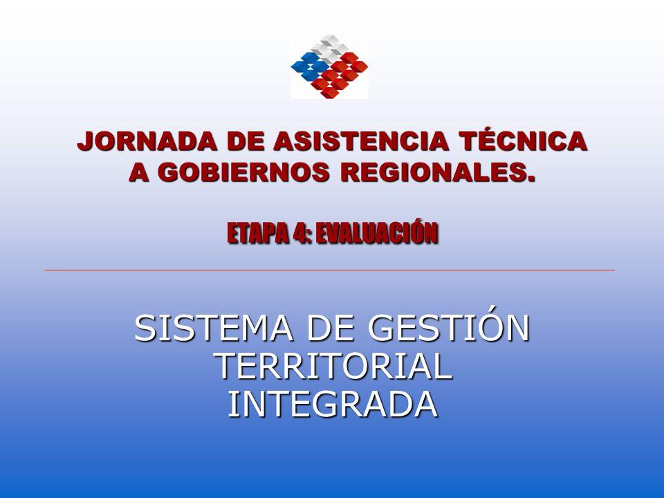 JORNADA DE ASISTENCIA TÉCNICA A GOBIERNOS REGIONALES. ETAPA 4: EVALUACIÓN SISTEMA DE GESTIÓN TERRITORIAL INTEGRADA