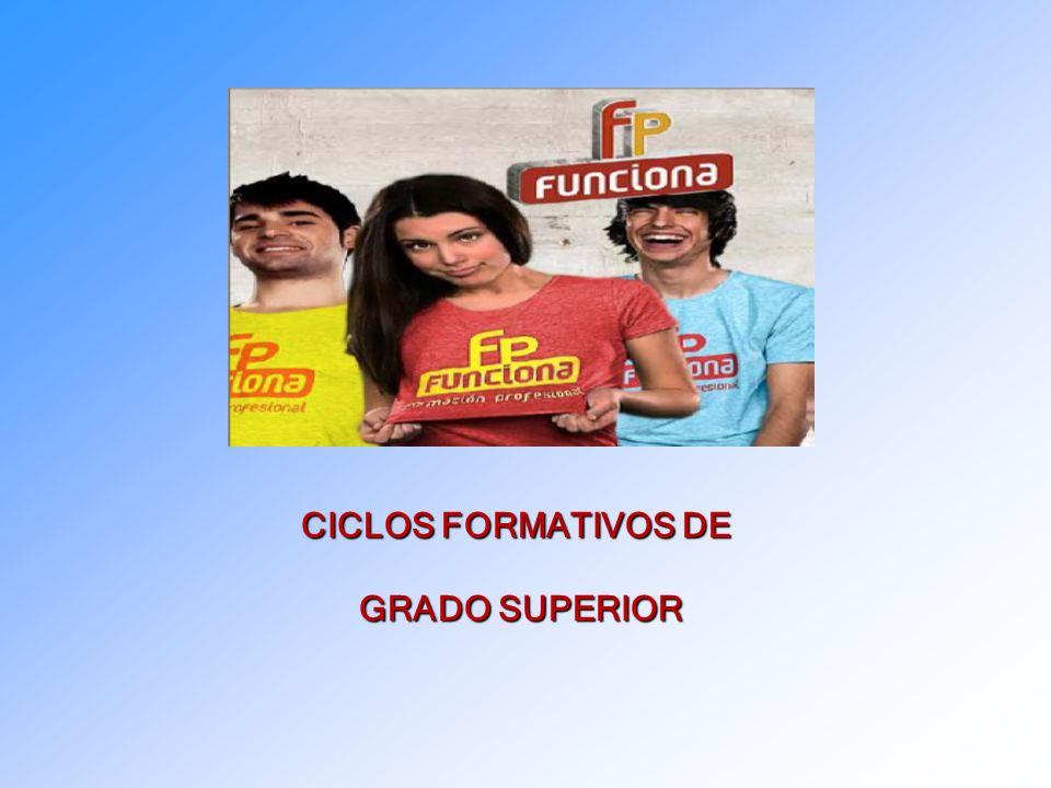 CICLOS FORMATIVOS DE GRADO SUPERIOR GRADO SUPERIOR