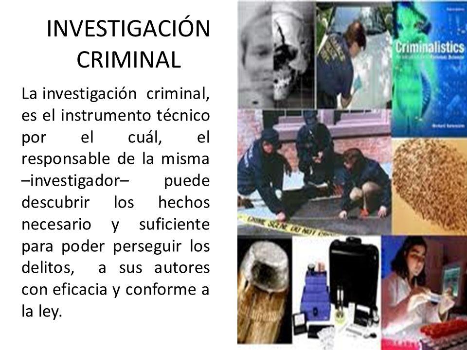 INVESTIGACIÓN CRIMINAL ¿Cuál es su ingrediente fundamental de la Investigación?