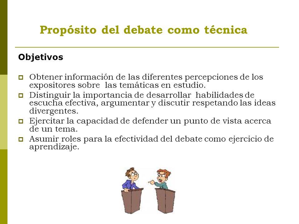 Objetivos Obtener información de las diferentes percepciones de los expositores sobre las temáticas en estudio.