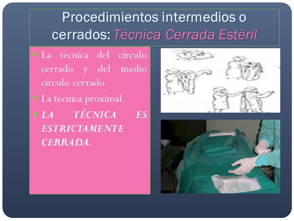 Procedimientos posteriores o de evaluación: Antisepsia final de la herida operatoria.