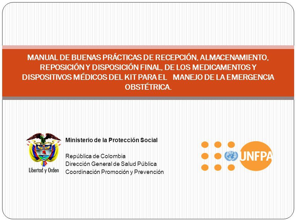 Ministerio de la Protección Social República de Colombia Dirección General de Salud Pública Coordinación Promoción y Prevención MANUAL DE BUENAS PRÁCT