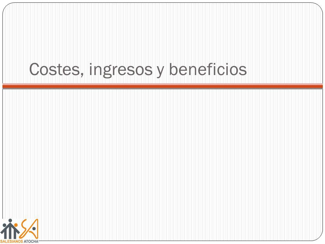 Costes, ingresos y beneficios